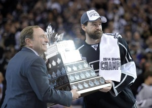 Despite being a playoff hero, Justin Williams may be a cap-casualty after this season.. (Gary A. Vasquez-USA TODAY Sports)
