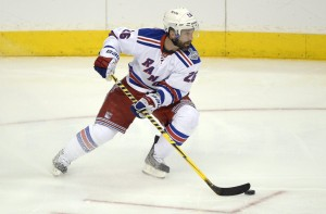 New York Rangers forward Martin St. Louis