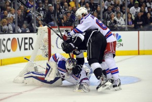 Carl Hagelin scored a breakaway goal in game two. (Gary A. Vasquez-USA TODAY Sports)