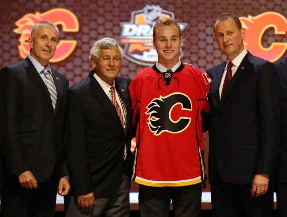 He couldn't do a pull-up at the Combine, but it didn't stop Calgary from making Sam Bennett a high draft pick. (Bill Streicher-USA TODAY Sports)