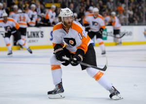 Sean Couturier could be poised for a run at the Selke Trophy (Bob DeChiara-USA TODAY Sports)