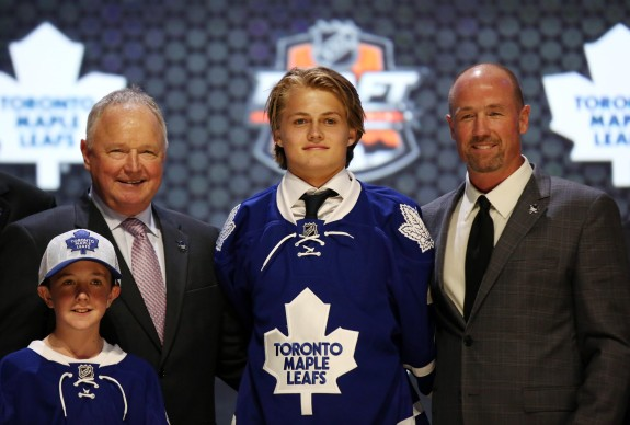 At only 18 years of age, William Nylander is already one of the best hockey players outside of North America (Bill Streicher-USA TODAY Sports)