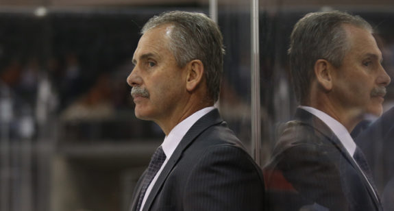 (THW file photo) Vancouver coach Willie Desjardins is on the hot seat and another loss tonight against the Islanders could result in the season's first firing.