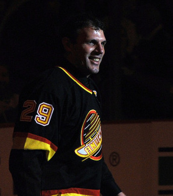 Canucks forward Gino Odjick
