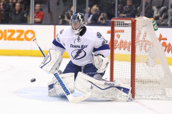 Ben Bishop, Tampa Bay Lightning, NHL, Flames Targeting Ben Bishop