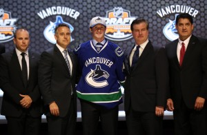 Jared McCann, drafted 24th overall in 2014 by Vancouver, is part of a potent group of prospects in the Canucks organization.(Bill Streicher-USA TODAY Sports)
