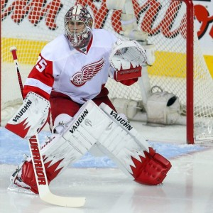 Jimmy Howard has been one of the lone bright spots for the Red Wings. (Sergei Belski-USA TODAY Sports)