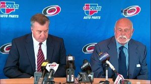 Peter Karmanos Introduces Don Waddell as Hurricanes President