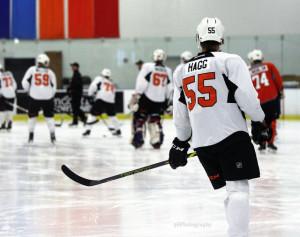 Robert Hagg at Flyers development camp. [photo: Amy Irvin]