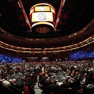 The 2014 City of Brotherly Love NHL Draft Floor, Philadelphia (Bill Streicher-USA TODAY Sports)