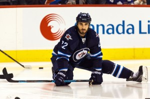 Thorburn has been with Winnipeg since the relocation, Peluso needs to challenge him for ice time.(Shawn Coates-USA TODAY Sports)