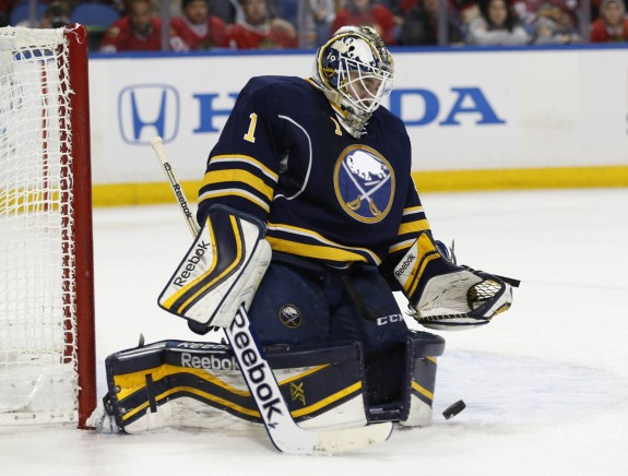 Jhonas Enroth (Kevin Hoffman-USA TODAY Sports)