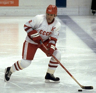 Slava Fetisov of the Detroit Red Wings.