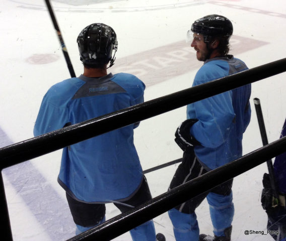 Justin Williams and Mike Richards
