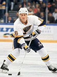 Former-St. Louis Blues forward Brett Hull