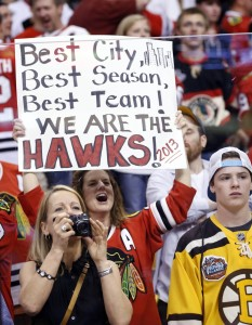 According a report from Crain's Chicago Business, females make up 38 percent of the Blackhawks fan base. (Greg M. Cooper-USA TODAY Sports)