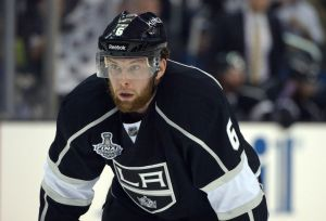 Jake Muzzin was the Tyler Toffoli of the defense for Los Angeles in 2014-15. (Kirby Lee-USA TODAY Sports)