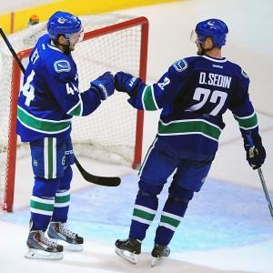 Daniel Sedin, Linden Vey, Vancouver Canucks, NHL, Milestones