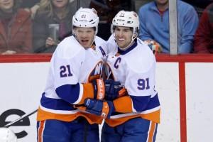 Kyle Okposo, John Tavares, NHL, Milestones, New York Islanders