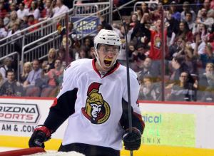 Senators fans likely share the same expression after Ottawa clinched a playoff berth. (Matt Kartozian-USA TODAY Sports)