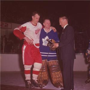 Gord Howe,  the quintessential hart with Johnny Bower, a vezina