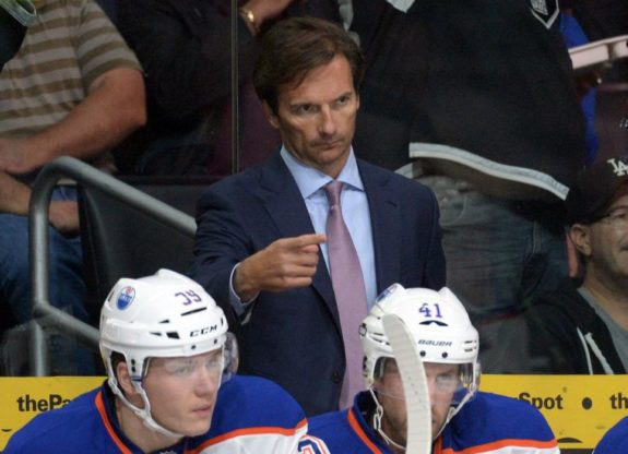 Edmonton's struggles this season can be directly traced back to the hiring of Dallas Eakins as coach (Kirby Lee-USA TODAY Sports)