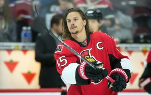 Erik Karlsson leads the league in turonovers this year.(Marc DesRosiers-USA TODAY Sports)