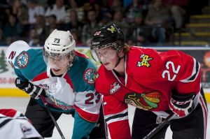 Justin Kirkland of the Kelowna Rockets had a four-point game in the Memorial Cup semifinals over Quebec.