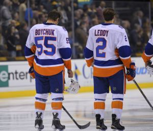 Along with Johnny Boychuk, Nick Leddy helped guide the New York Islanders back to the playoffs, leaving a hole in Chicago's third pairing. (Bob DeChiara-USA TODAY Sports)