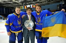 Oleksandr Maiko of Junior Team Ukraine and players
