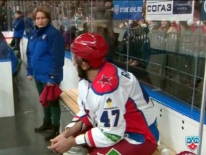 Radulov (CSKA) on the penalty bench