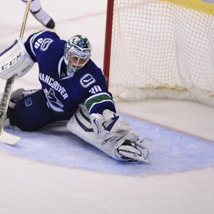 Vancouver Canucks goalie Ryan Miller