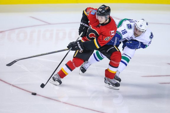 NHL Playoffs, NHL, Hockey, Calgary Flames, Vancouver Canucks, Sam Bennett