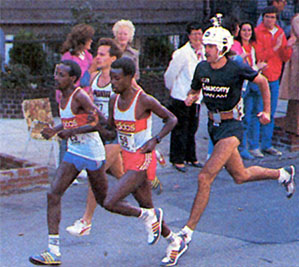 Marathoner Rod Dixon wore a helmet camera for the 1985 New York Marathon