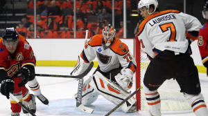 Although he had some decent starts for the Flyers, Zepp spent the majority of the season as the starting goaltender for the Lehigh Valley Phantoms.