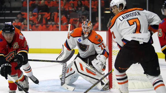 Rob Zepp, goaltender for the Lehigh Valley Phantoms. [photo: Chris Knight]