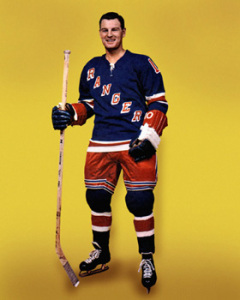 Earl Ingarfield  had a pair for New York against the Bruins.