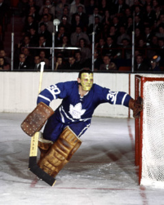 Terry Sawchuk, still unbeaten as a Leaf