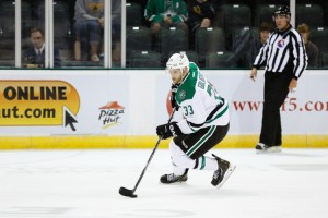 Cedar Park, TX, USA: Dallas Stars defenseman Alex Goligoski. Credit: Michael Connell/Texas Stars Hockey