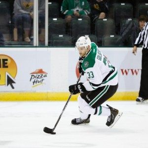Goligoski has struggled with turnovers at times this season, partly due to the high-risk style of game. (Credit: Michael Connell/Texas Stars Hockey)
