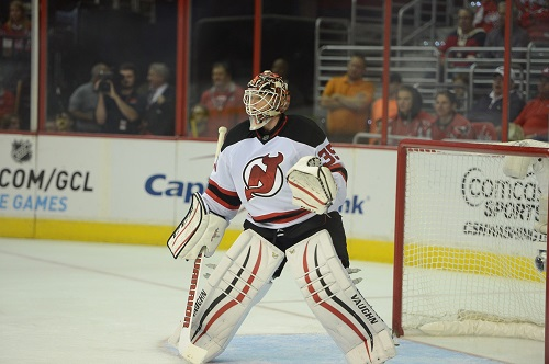 New Jersey Devils goalie Cory Schneider (Tom Turk/THW)
