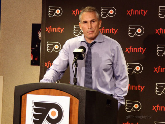 Berube with the Flyers