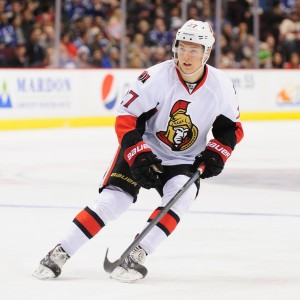 Curtis Lazar could be sent to the AHL, opening up space for Shane Prince. (Anne-Marie Sorvin-USA TODAY Sports)