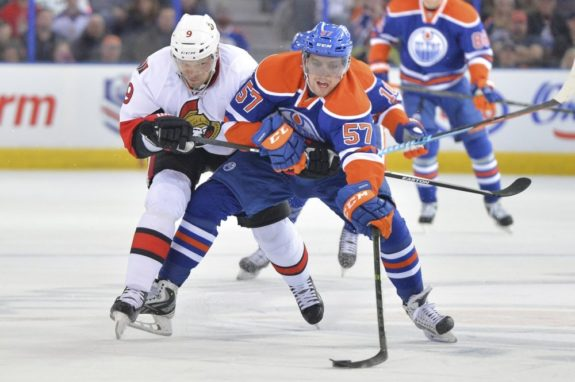 Perron with the Oilers