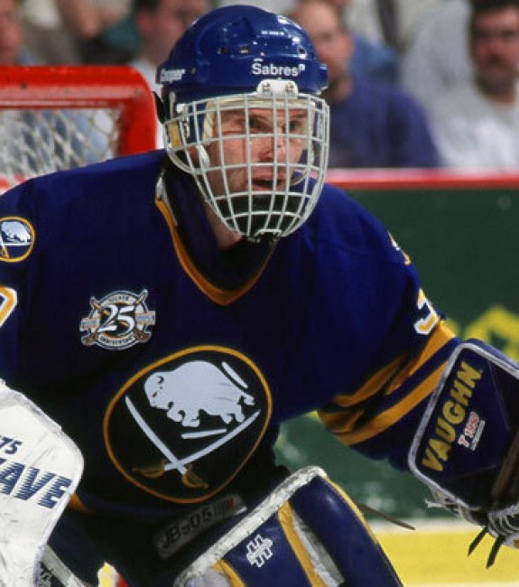 Dominik Hasek had many epic battles with Martin Brodeur as a member of the Buffalo Sabres.