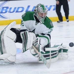 Kari Lehtonen was outstanding in wins over Carolina and Detroit last weekend. (Jayne Kamin-Oncea-USA TODAY Sports)