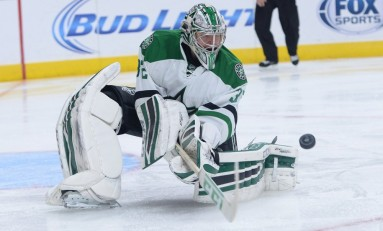 "Dallas Stars' ""Two-Headed Goalie Monster"" Makes Radiant Saves"