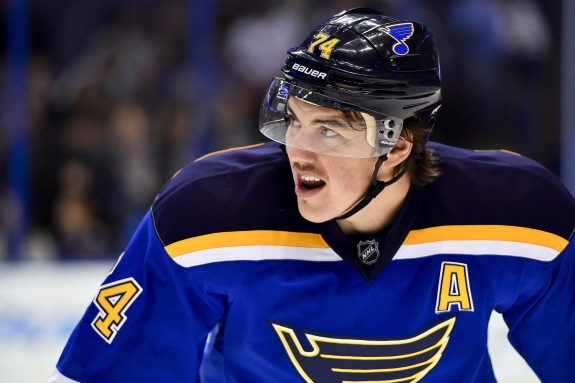 Oshie and the Blues' PK unit has been a point of concern as of late (Jasen Vinlove-USA TODAY Sports)