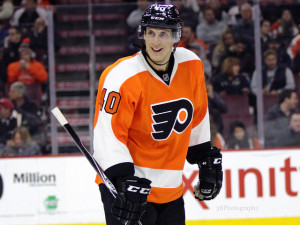 (Amy Irvin/The Hockey Writers) Vincent Lecavalier didn't have much to smile about this season. He's struggled to fit in with the Philadelphia Flyers, but in his defence, it's difficult to produce when you're stuck entering Zac Rinaldo and Ryan White.