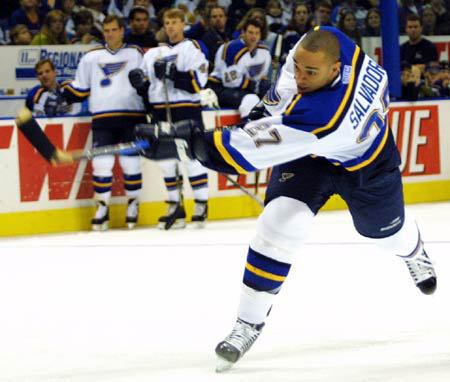 Bryce Salvador played parts of 7 seasons with the Blues